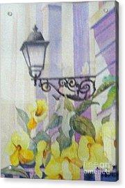 San Juan Lamp W Flowers Acrylic Print by Austin Burke