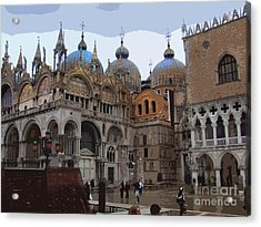 San Marco And The Doge's Palace - Venice Acrylic Print by Al Bourassa