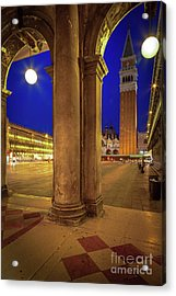San Marco At Night Acrylic Print by Inge Johnsson