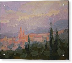 San Miguel Cathedral Sunrise Acrylic Print by Kathryn Townsend