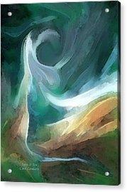 Sand And Sea Acrylic Print by Carol Cavalaris