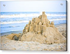 Sand Castle Acrylic Print by Diane Diederich