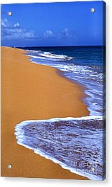 Sand Sea Sky Acrylic Print by Thomas R Fletcher