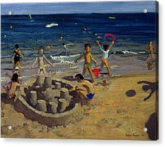 Sandcastle Acrylic Print by Andrew Macara