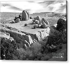 Sandstone Plateau Acrylic Print by Christian Slanec