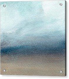 Sandy Shore- Art By Linda Woods Acrylic Print by Linda Woods