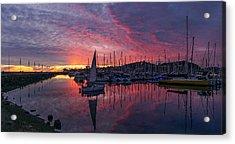 Santa Barbara Harbor 2016 Acrylic Print by John Pierpont