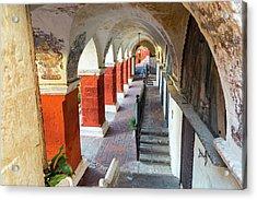 Santa Catalina Monastery Corridor Acrylic Print by Jess Kraft