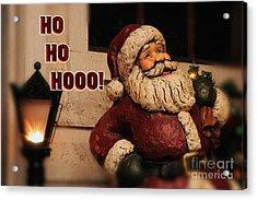 Santa Claus Christmas Card Acrylic Print by Lois Bryan