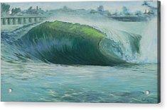 Santa Cruz Green Acrylic Print by Kathryn Colvig
