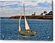 Santa Cruz Mark Abbott Memorial Lighthouse Ca  Acrylic Print by Christine Till