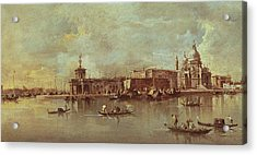Santa Maria Della Salute Seen From The Mouth Of The Grand Canal Acrylic Print by Francesco Guardi