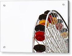 Santa Monica Pier Ferris Wheel- By Linda Woods Acrylic Print by Linda Woods