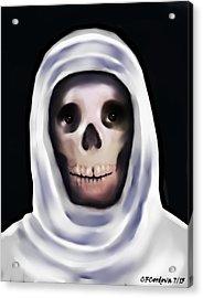 Santa Muerte Acrylic Print by Carmen Cordova