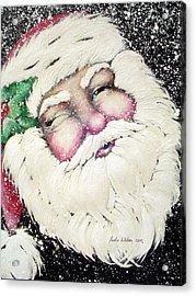 Santa Acrylic Print by Paula Weber