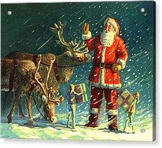 Santas And Elves Acrylic Print by David Price