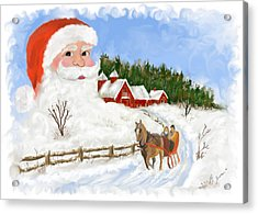 Santas Beard Acrylic Print by Susan Kinney