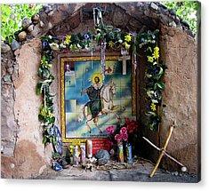 Santiago Apostel Chimayo Acrylic Print by Kurt Van Wagner