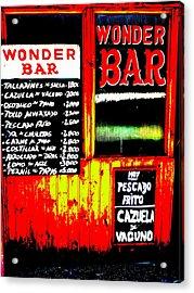 Santiago's Wonder Bar  Acrylic Print by Funkpix Photo Hunter