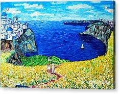 Santorini Honeymoon Acrylic Print by Ana Maria Edulescu