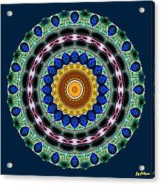 Sapphire Necklace Mandala Acrylic Print by Joy McKenzie