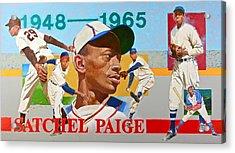 Satchel Paige Acrylic Print by Cliff Spohn