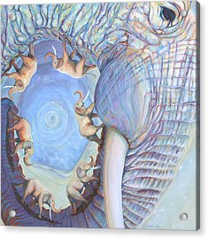 Saturn Acrylic Print by Sarah Soward