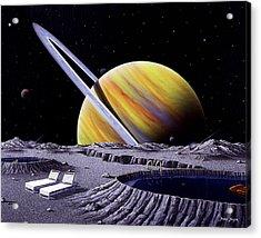 Saturn Spa Acrylic Print by Snake Jagger