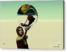 Save The Earth Acrylic Print by Corey Ford