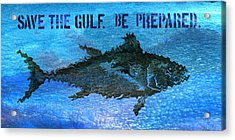 Save The Gulf America 2 Acrylic Print by Paul Gaj