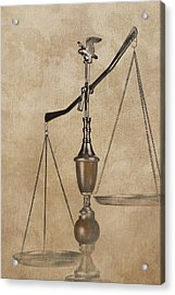 Scales Of Justice Acrylic Print by Tom Mc Nemar