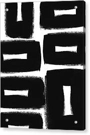 Scandi Boxes 2- Art By Linda Woods Acrylic Print by Linda Woods