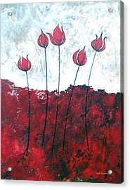 Scarlet Blooms Acrylic Print by Herb Dickinson