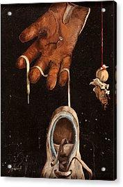 Scarpa Stringa Guanto Aglio Acrylic Print by Guido Borelli