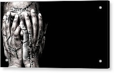 Scars Acrylic Print by Venura Herath