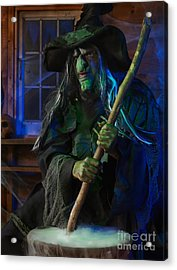 Scary Old Witch Acrylic Print by Oleksiy Maksymenko