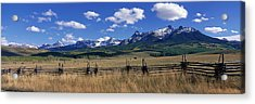 Scene Along Last Doller Road North Acrylic Print by Panoramic Images