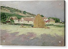 Scene At Giverny, 1890 Acrylic Print by Theodore Robinson
