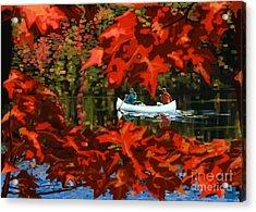 Scenic Autumn Canoe  Acrylic Print by Sassan Filsoof