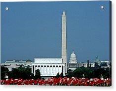 Scenic View Of Washington D.c Acrylic Print by Kenneth Garrett
