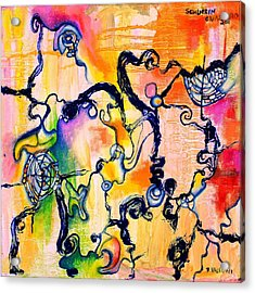 Schlieren Chiarascuro Acrylic Print by Regina Valluzzi