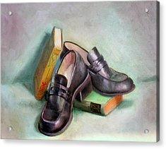 Scholar Acrylic Print by Athena  Mantle