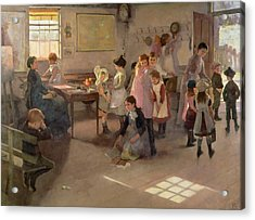School Is Out Acrylic Print by Elizabeth Adela Stanhope Forbes