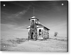 School's Out In Black And White Acrylic Print by Todd Klassy