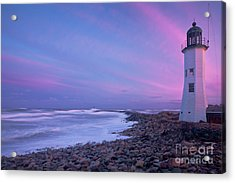 Scituate Sunset  Acrylic Print by Susan Cole Kelly