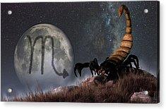 Scorpio Zodiac Symbol Acrylic Print by Daniel Eskridge