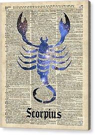 Scorpius Scorpion Zodiac Sign  Acrylic Print by Jacob Kuch