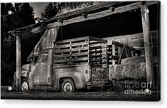 Scotopic Vision 5 - The Barn Acrylic Print by Pete Hellmann