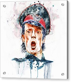 Scott Weiland Watercolor Acrylic Print by Marian Voicu