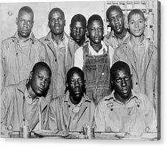 Scottsboro Boys In Jefferson County Acrylic Print by Everett